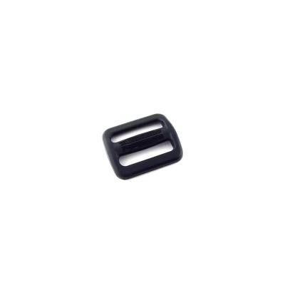 Пряжка АПРИ, двухщелевая, TN 25мм, черная